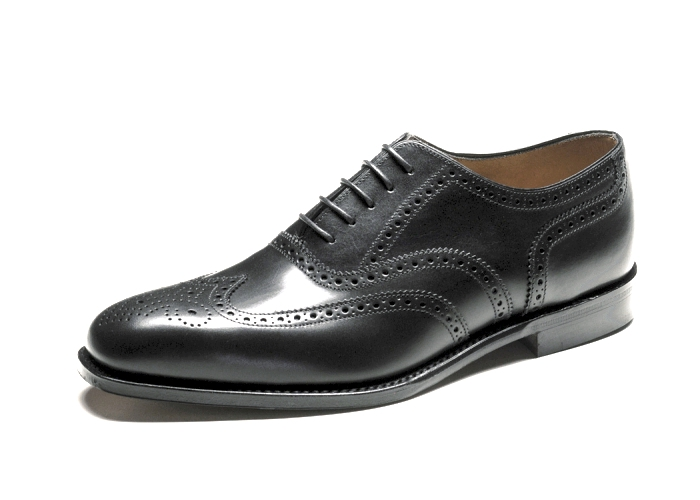 loake buckingham black brogue shoes 163 189