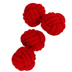 Red Silk Knot Cufflinks