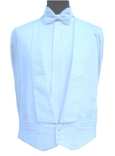 "100/% Cotton White Marcella Waistcoat 52/"" Regular"