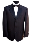 3 Button Single Breasted Black Dinner Jacket