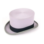 Christys Ascot Grey Wool Top Hat