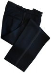 Finest Barathea Wool Black Dress Trousers