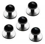 Set of 5 Black Onyx Coloured Dress Studs