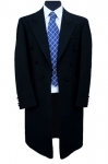 EX-HIRE 100% Herringbone Wool Black Frock Coat