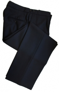 EX-HIRE 100% Black Herringbone Wool Trousers