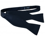Black Satin Self Tie Bow Tie