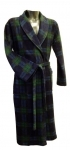 Black Watch Tartan Microfibre Fleece Dressing Gown