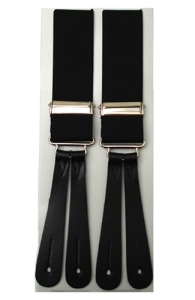 Black Leather End Braces