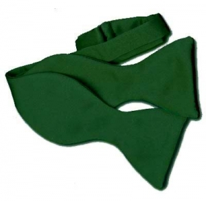 Bottle Green Self-Tie Bow Tie