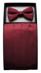 Burgundy Cummerbund & Bow Tie Set