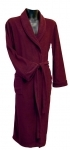 Burgundy Microfibre Fleece Dressing Gown