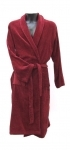 100% Burgundy Cotton Velour Dressing Gown