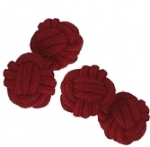 Burgundy Silk Knot Cufflinks