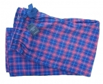 Charles Tyrwhitt Red & Navy Check Cotton Trousers