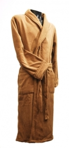 Camel Microfibre Fleece Dressing Gown