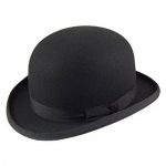 Christys Black Wool Felt Bowler Hat
