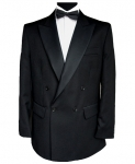 Finest Barathea Wool Double Breasted Dinner Jacket