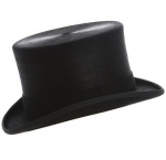 Christys Black Polished Fur Top Hat