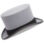 Christys Ascot Grey Fur Top Hat