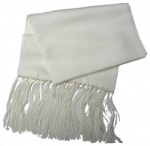 100% Silk Ivory Cream Scarf