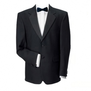 2 Button Single Breasted Black Dinner Jacket