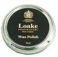 Tin of Black Shoe Polish by Loake