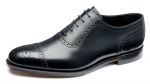 Loake - Strand Black Half Brogue Shoes