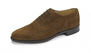 Loake Brown Suede Brogue Shoes - 202ds