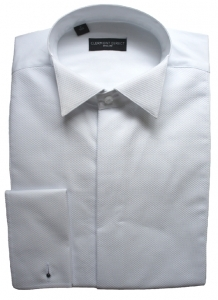 100% Cotton Fly Front Marcella Wing Collar Shirt