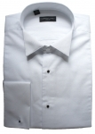 100% Cotton Stud Front Marcella Wing Collar Shirt (sp)