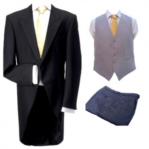 *FOR HIRE - Morning Coat, Trousers & Waistcoat (10% off)
