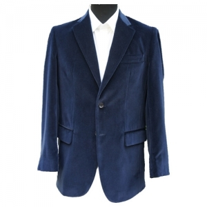 Navy Blue Velvet Jacket