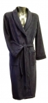 Navy Blue Microfibre Fleece Dressing Gown