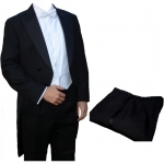 Poly-Wool White Tie Tailcoat & Trousers