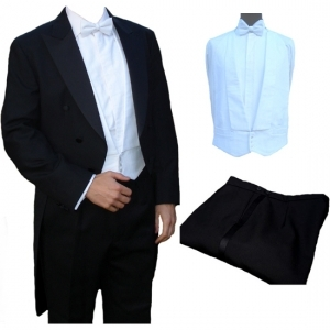 FOR HIRE - White Tie Tailcoat, Trousers & Waistcoat (sp)