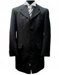 EX-HIRE 100% Herringbone Wool Prince Edward Coat (with satin collar)