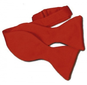 Red Self Tie Bow Tie