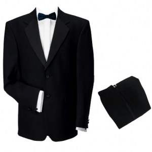 Finest Barathea Wool Single Breasted Dinner Suit