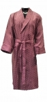 100% Silk Burgundy & White Polka Dot Dressing Gown