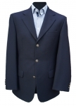 Navy Blue Single Breasted Blazer