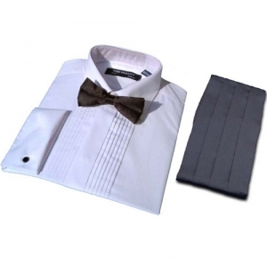 Pleated Dress Shirt & Cummerbund Set