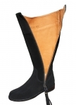 Ladies Suede Spanish Riding Boots in Black