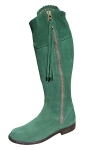 Ladies Suede Spanish Riding Boots in Green