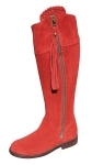 Ladies Suede Spanish Riding Boots in Red