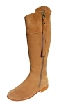 Ladies Suede Spanish Riding Boots in Tan