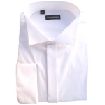 Swept High Wing Collar Wedding Shirt