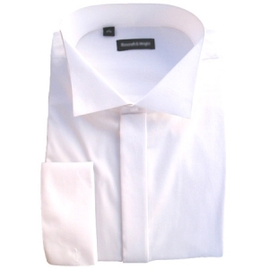 RE-PACKAGED Swept High Wing Collar Wedding Shirt