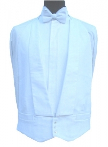 FOR HIRE - White Marcella Waistcoat