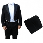 Finest Barathea Wool White Tie Tailcoat & Trousers