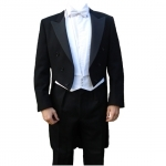 Finest Barathea Wool White Tie Tailcoat